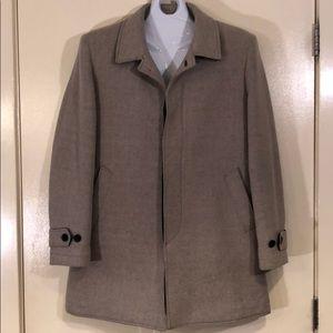 Grey 3/4 length wool P coat